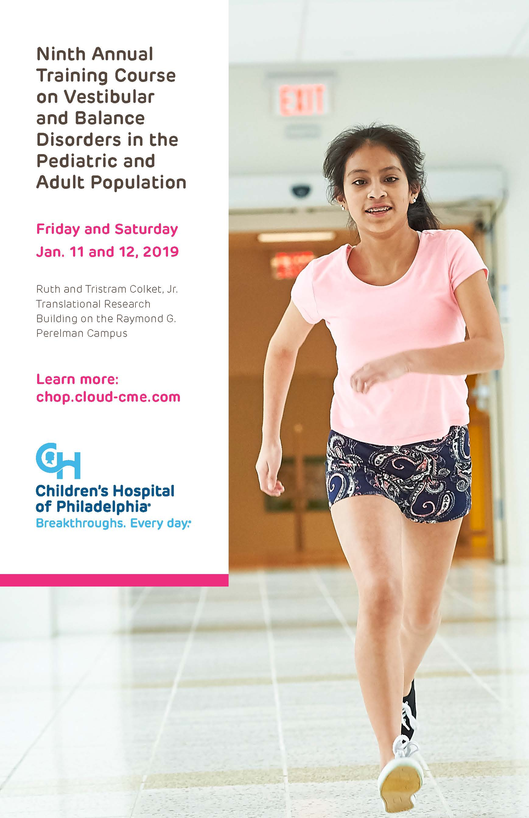 Ninth Annual Training Course on Vestibular and Balance Disorders in the Pediatric and Adult Population Banner