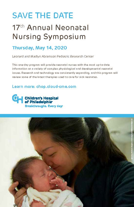 17th Annual Neonatal Nursing Symposium Banner