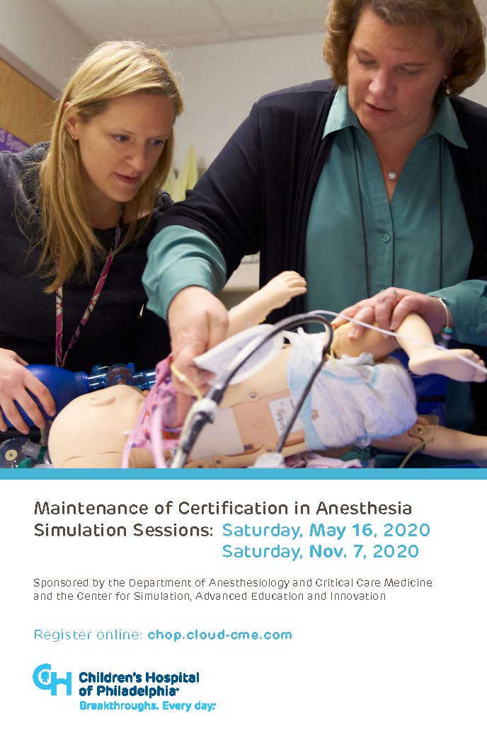 Maintenance of Certification in Anesthesia Banner
