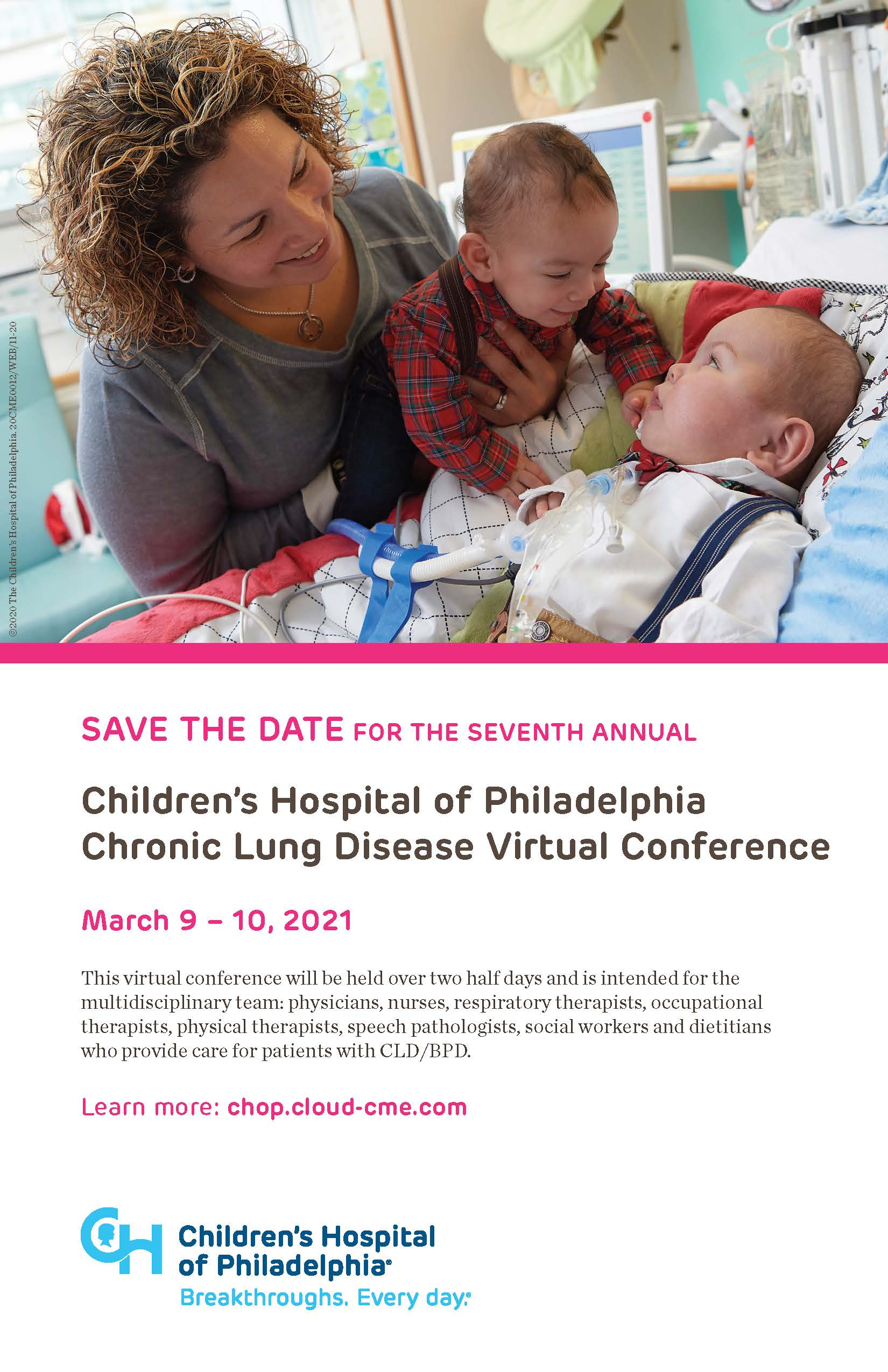 Children's Hospital of Philadelphia Chronic Lung Disease Virtual Conference Banner