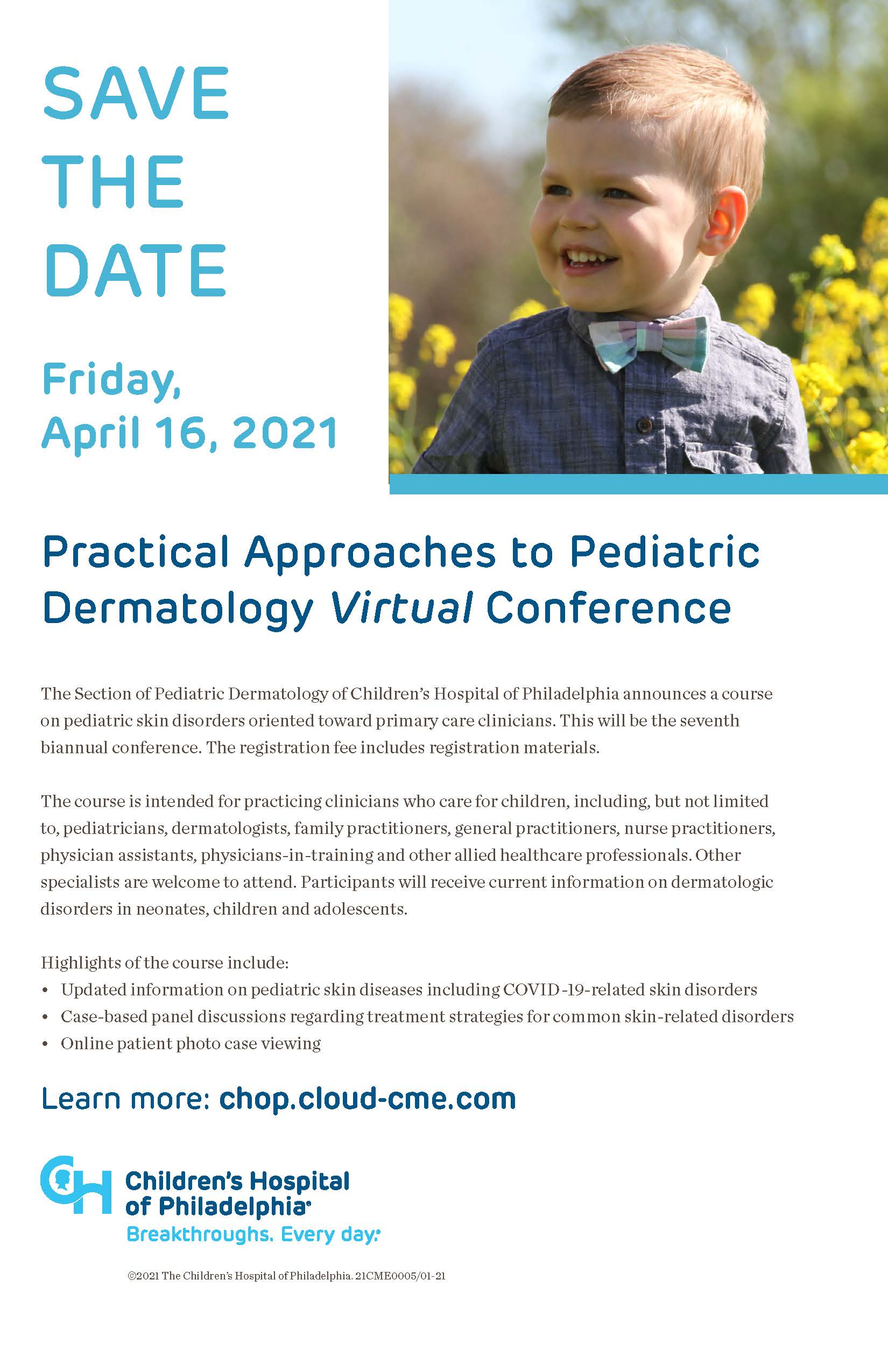 Practical Approaches to Pediatric Dermatology Virtual Conference Banner