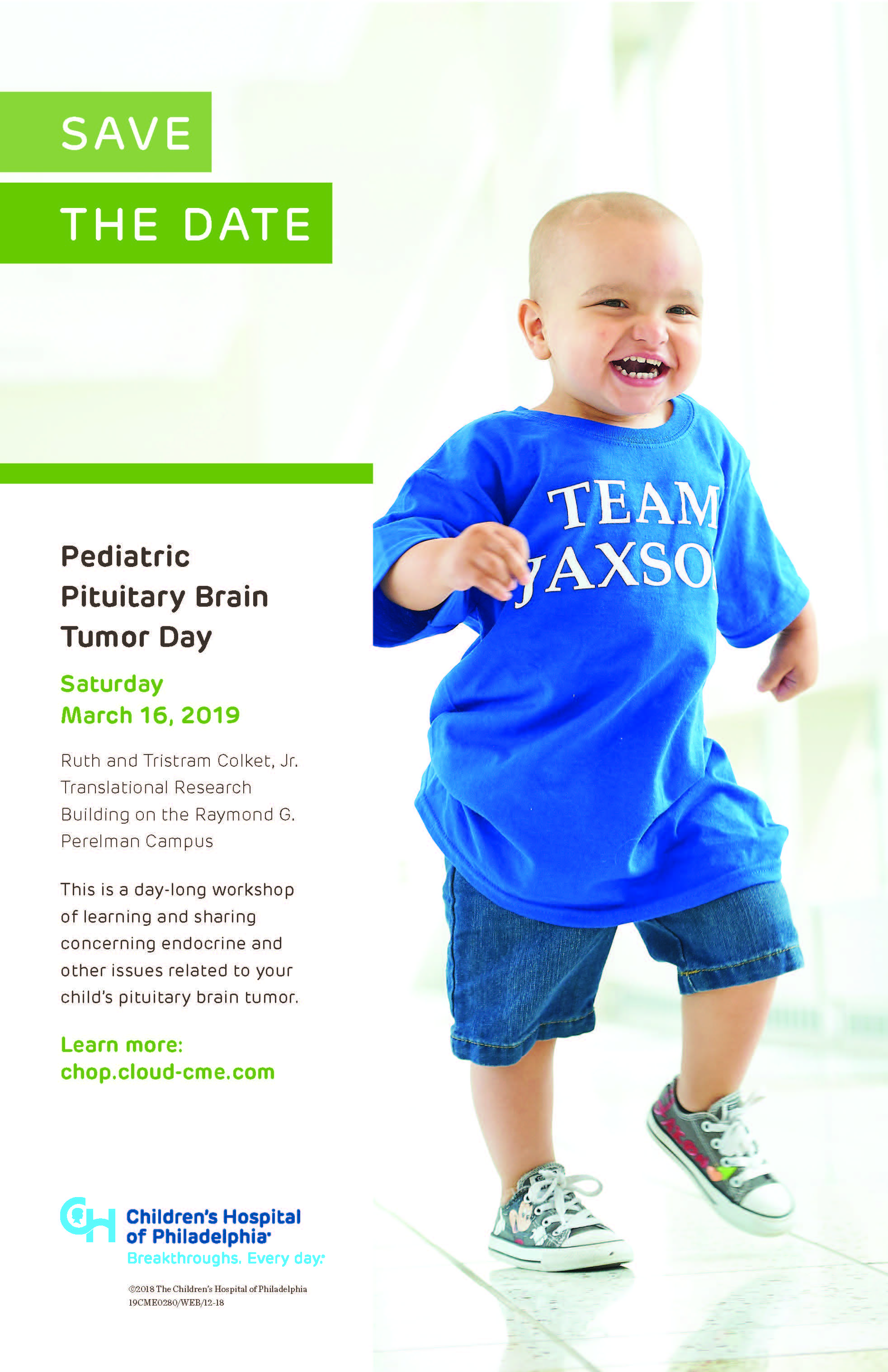 Pediatric Pituitary Brain Tumor Day Banner