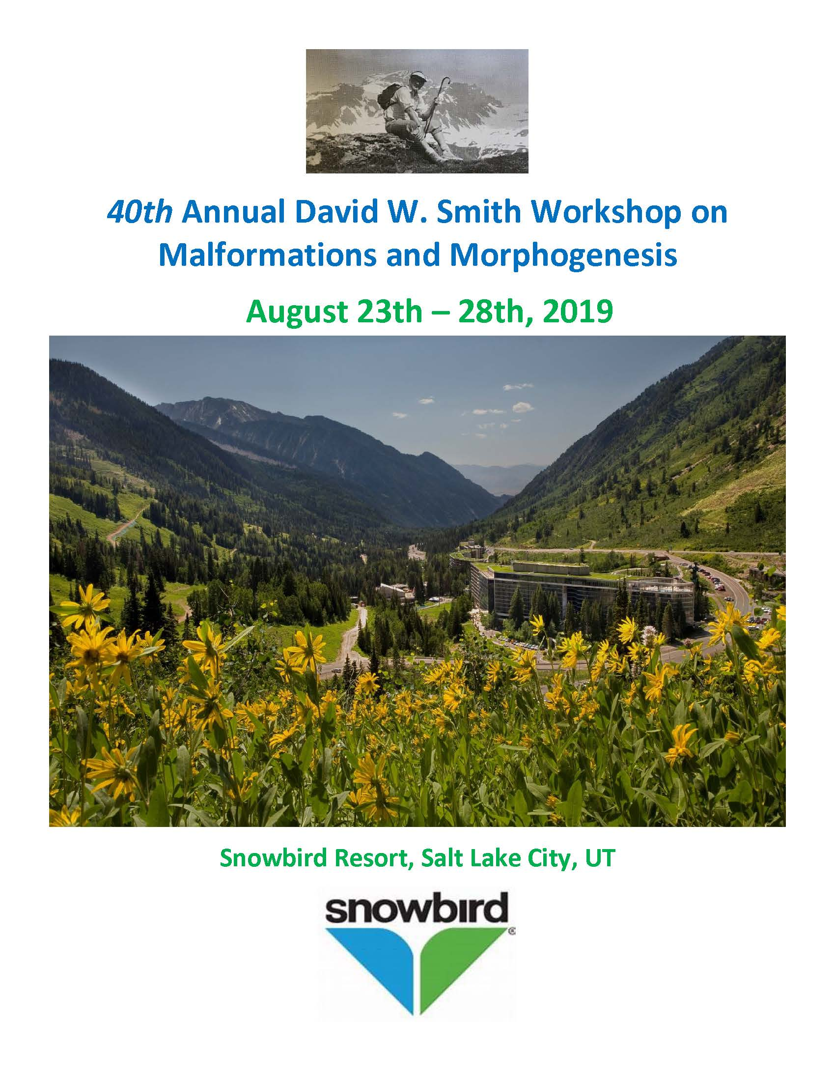 40th Annual David W. Smith Workshop on Malformations and Morphogenesis Banner